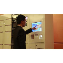 Customized 15 inches Touch Screen Electronic Laundry Drop Lockers Cabinet