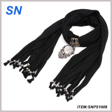 Pendant Scarf with Lovely Decoration (SNPS1008)