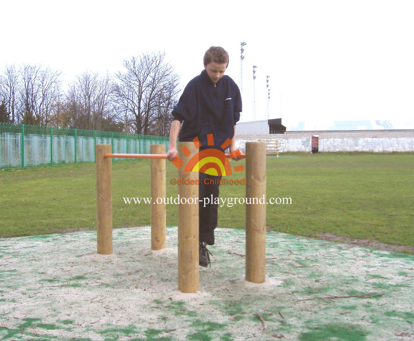 Wooden Parallel Bars Balancing Playground For Sale