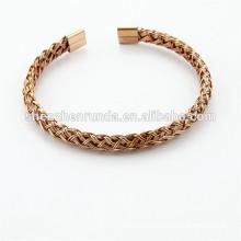 Nova tendência espiritual jóias de aço, jóias de aço inoxidável com ouro IP, ouro rosa
