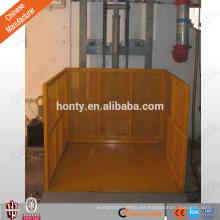 Elevadores de carga de rieles de guía de servicio pesado para elevadores de almacén
