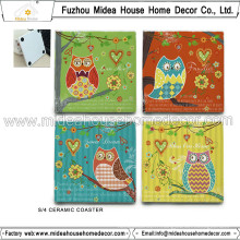 Hot Sale Custom Ceramic Coaster en céramique avec prix usine