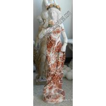 Sculpture italienne en pierre sculpture Statue en marbre sculpture en marbre pour décoration d'hôtel (SY-C1302)