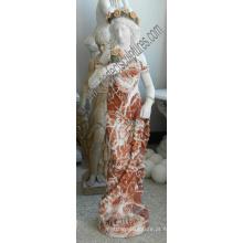 Italiano, pedra, escultura, estátua, jardim, esculpido, mármore, escultura, hotel, decoração, (sy-C1302)