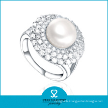 OEM Accepted Pearl 925 Sterling Silver Ring in Stock (R-0395)