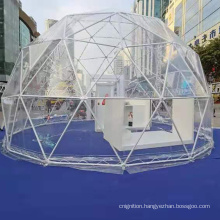 Big Camping Geodesic Dome Kit Tents Glamping Garden Glass door PVC Igloo Dome House