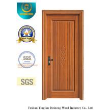 Porta amarela do estilo chinês da cor para o interior com madeira maciça (xcl-842)