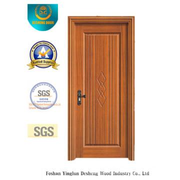 Puerta de estilo chino de color amarillo para interior con madera maciza (xcl-842)