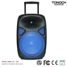 OEM 12 Inches Plastic Trolley Active Speaker with Battery