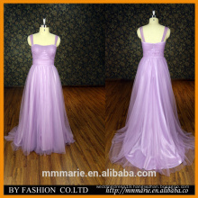 A line bridal wedding dress Straps Purple Modest evening dress Hot sale ladies dress patterns