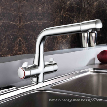 Safety Single lever sink mixer kitchen faucet with seperate hot and cold pipe