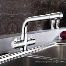 Faucet de cozinha de misturador de pia único de alavanca com tubo quente e frio separado