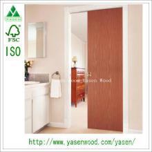Porta de entrada interior de folheado de madeira nivelada