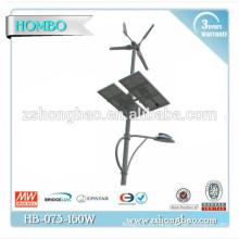 Venta caliente luces de calle solares del viento de 120W LED con el panel solar / la iluminación de calle solar llevada