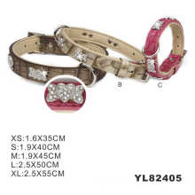 Venta al por mayor China PU impermeable perro Collar (YL82405)