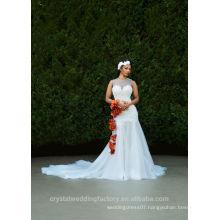 Latest Gowns Alibaba Elegant High Collar White A Line Wedding Dresses Vestidos de Novia wtih Long Train 2016 LW257