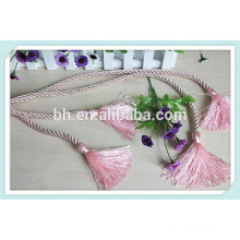 High quality Pink Curtain Drapery Rope Tieback Cord