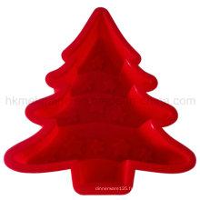Moule de gâteau de silicone d'arbre de Noël (RS36)