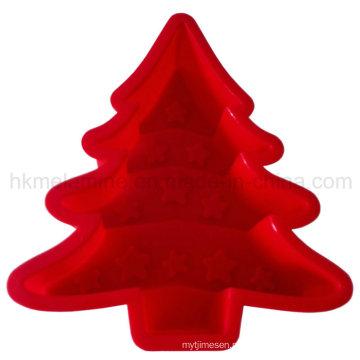 Molde do bolo do silicone da árvore de Natal (RS36)