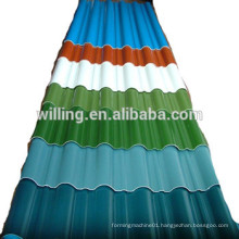 galvanized corrugated steel roofing sheet in china