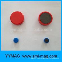 China botón de imán de plástico, alfiler magnético