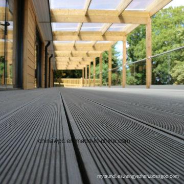 Decking del WPC de madera al aire libre durable e impermeable del precio bajo de la alta calidad