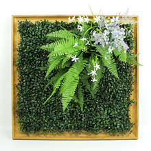 DIY removable anti-uv customized artificial plants photo frame