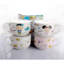 Hochwertiger Keramikbecher mit Kunststoffabdeckung