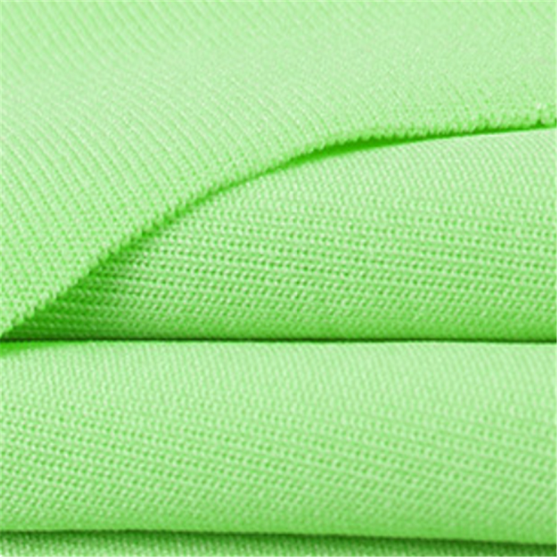Practical Green Four Side Stretch Knitted Polyester Fabrics