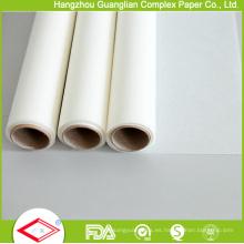 """Rollo de papel para hornear revestido de silicona antiadherente OEM de 12 """"de ancho"""