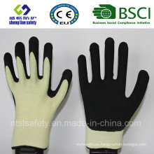 Cut Resistant Safety Work Glove Kevlar with Sandy Nitrile Coated Safety Gloves