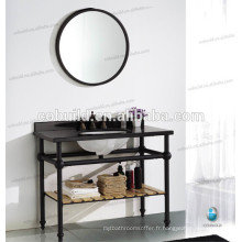 K-7004 poli italien vanité de salle de bains, vanité de salle de bains moderne cadre en acier inoxydable, haut de vanité de salle de bains en acier inoxydable