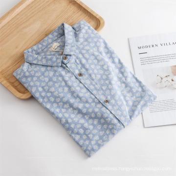 Hot Sale Men's Long Sleeve Print Regular Shirt