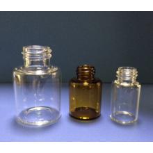 Flacon de 5ml en verre Mini clair tubulaire pour l'emballage de la pilule