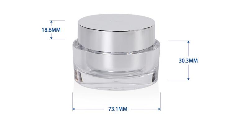 50 g Double Wallled Cosmetic Plastic Acrylic Jar