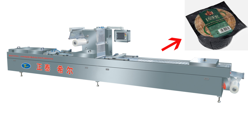Cheese Automatic Thermoforming Vacuum Packaging Machine with Auto Filling