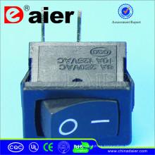 Interruptor oscilante eléctrico con dos pasadores de esquina