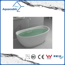 Bathroom Oval Solid Surface Freestanding Bathtub (AB6568)