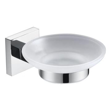 Porte-savon carré chrome