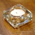 Vário ofício do castiçal do vidro de cristal da forma para a decoração do presente