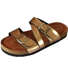 Factory stock lady slides slipper cork shoes beach sandals for women