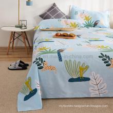 China Wholesale Bedsheet Best Quality Comfortable Fade Sky Blue Cartoon Full Bedding Set