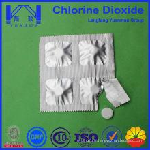 Vente à chaud traitement de l'eau utilisation de l'agriculture comprimé de dioxyde de chlore