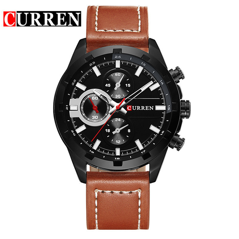 Leather Minimalism Quartz Men Watches