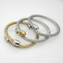 Joyas de alta calidad personalizadas sencilla brazalete de acero inoxidable brazalete GSL008