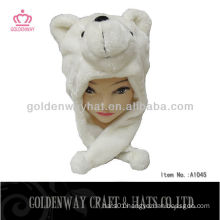 Fashion design plush bear hat