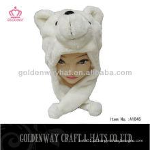 Chapéu de urso de pelúcia de design de moda