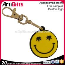 Porte-clés doux fait sur commande promotionnel doux d'emoji de PVC, porte-clés d'emoji