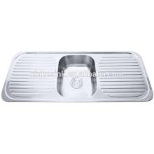Double draining board sink kitchen accessory