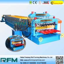 Hydraulische Antriebsaluminium-Doppelschicht-Walzenformmaschine